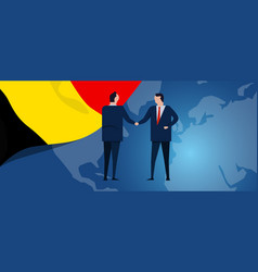 belgium international partnership diplomacy vector image