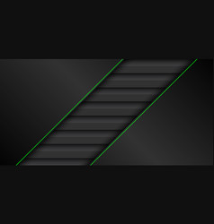 Black and green modern material design background vector