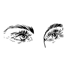 black and white fashion with eye vector image