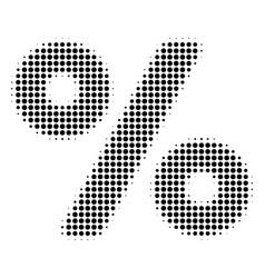 Black dot percent icon vector