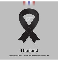 Black ribbon mourning sign for SIAM sad news vector