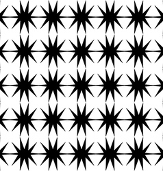 Black star pattern seamless on white background vector