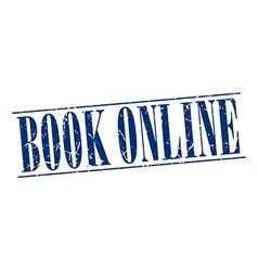 book online blue grunge vintage stamp isolated on vector image