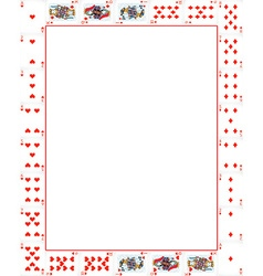 Border with poker cards vector