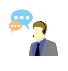 Call center help customer service logo support vector