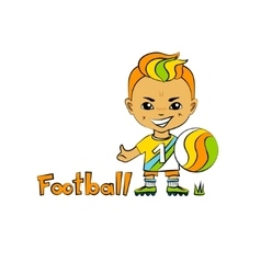 Cartoon Boy Football-Player vector image