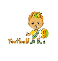 Cartoon Boy Football-Player vector