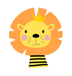 cartoon lion king vector image