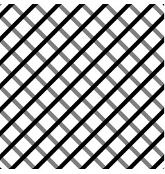 Cellular grid seamless black and white pattern vector