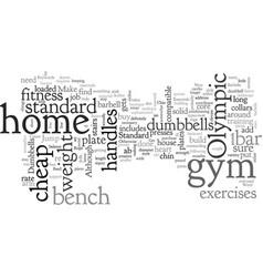 Cheap home gym essentials vector