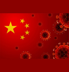 China flag country coronavirus covit -19 wuhan vector