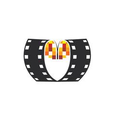 cinema logo movies logo video icon vector image