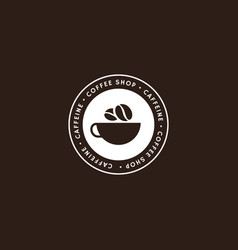 coffee logo template in white color vector image