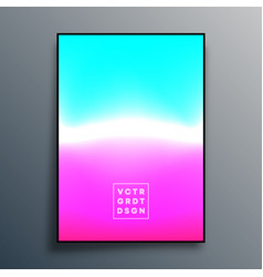 Colorful gradient texture poster design for vector