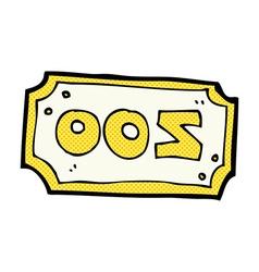 Comic cartoon zoo sign vector