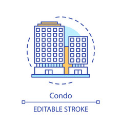 Condo concept icon vector