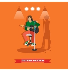 Country song guitarist playing guitar Music rock vector