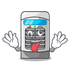 Crazy air cooler in cartoon shape vector