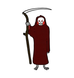 death comic cartoon vector image