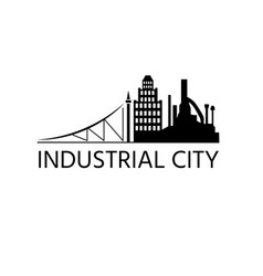 design template city buildings and factory vector image