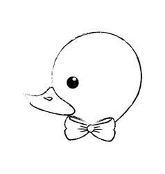 ducky toy cartoon vector image
