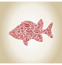 Fish a lip vector