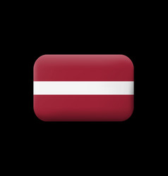 Flag of latvia matted icon and button vector