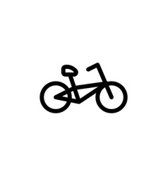 flat line bicycle icon symbol sign logo template vector image