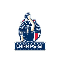 Football Champs 51 New England Retro vector