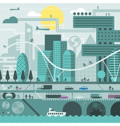 Future city vector