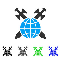 Global protection flat icon vector