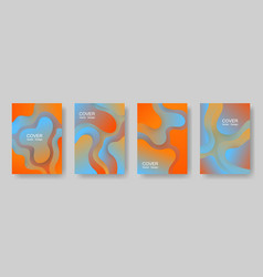 gradient fluid shapes abstract covers vector image