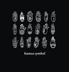Hamsa collection vector
