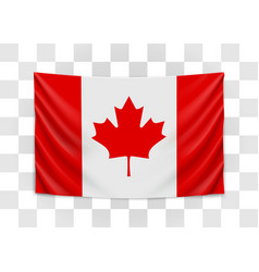 hanging flag canada canada national flag vector image