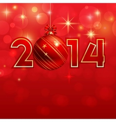 Happy new year background with Christmas bauble vector image