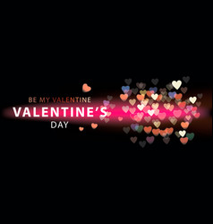 happy valentine day romantic creative banner vector image