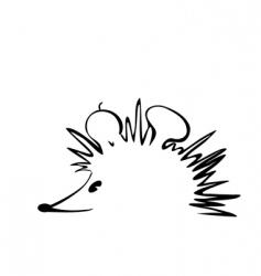 hedgehog logo vector image