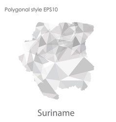 Isolated icon sri suriname map polygonal vector