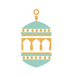 lantern ornament ramadan arabic islamic vector image