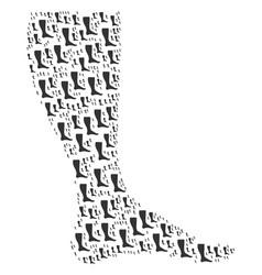 Leg icon composition vector