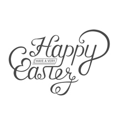 Lettering for Greeting Cards Happy Easter vector image