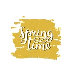 lettering Spring time vector image
