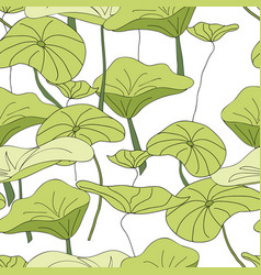 Lily pad pond pattern seamless repeat vector