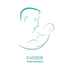 Logo dad and newborn baby vector image vector image