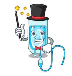 Magician infussion bottle mascot cartoon vector