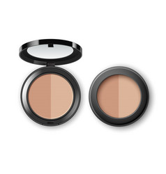 makeup powder with mirror on background vector image