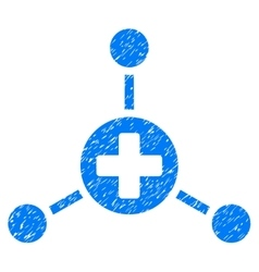 Medical Center Grainy Texture Icon vector