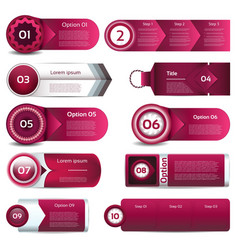 Modern infographics options banner can be used vector image