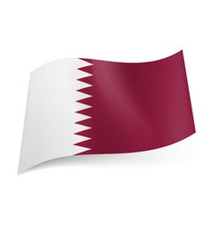 National flag of qatar white and maroon bands vector
