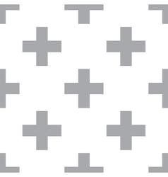 New Cross seamless pattern vector image